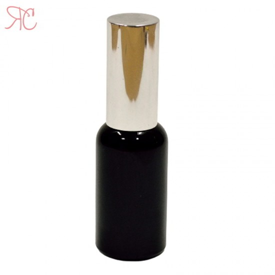 Sticla neagra cu pompa lotiuni Silver, 30 ml