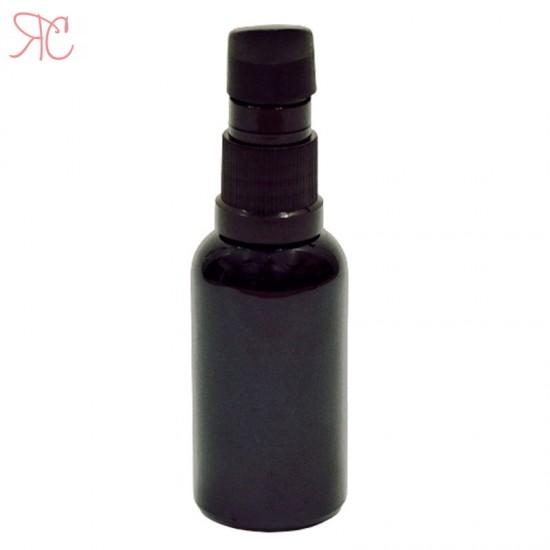 Sticla neagra cu pompa (uleiuri), 30 ml