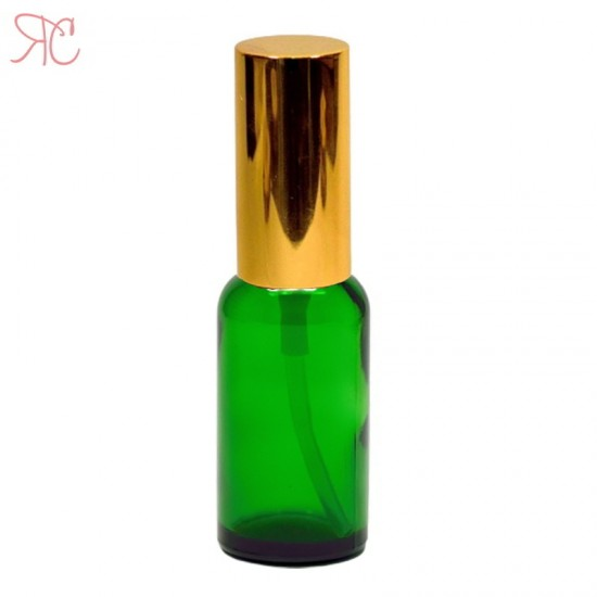 Sticla verde cu pompa lotiuni Gold, 20 ml