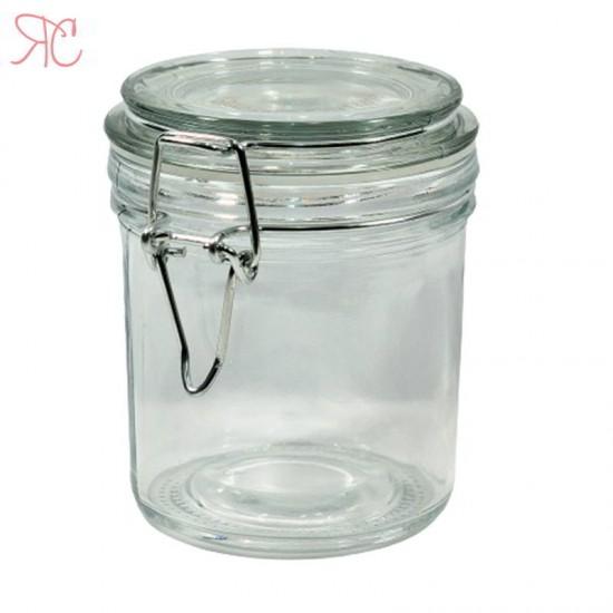 Borcan din sticla, capac cu sarma, 250 ml