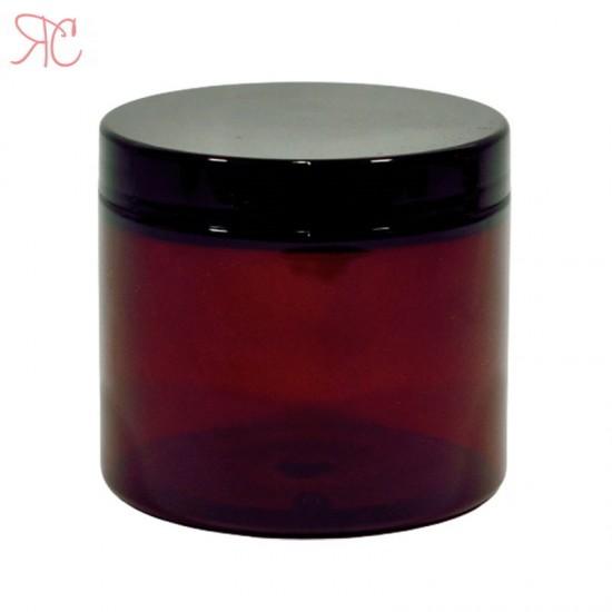 Cutie ambra, capac negru, 200 ml