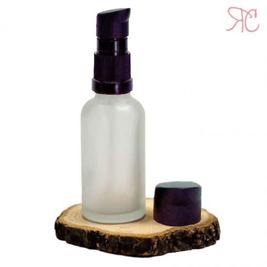 Sticla alba frosted cu pompa (uleiuri), 30 ml
