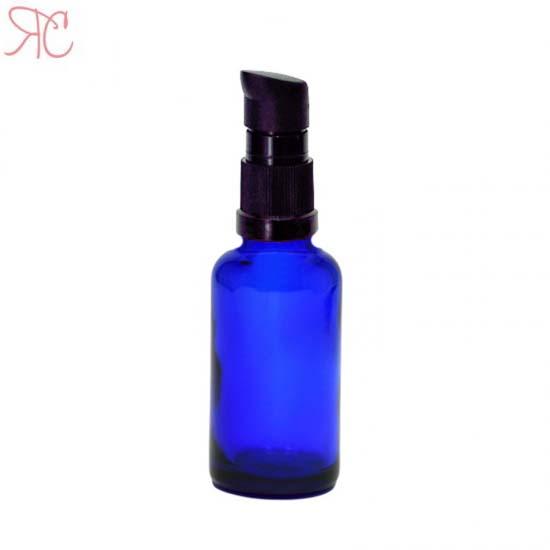 Sticla albastra cu pompa (uleiuri), 30 ml