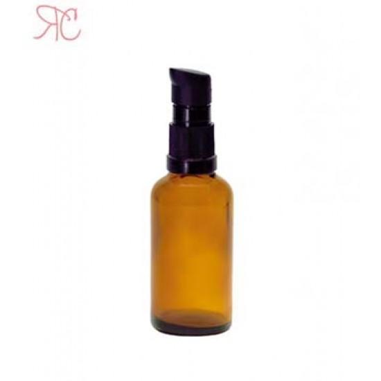 Sticla ambra cu pompa (uleiuri), 30 ml