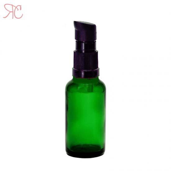 Sticla verde cu pompa (uleiuri), 30 ml