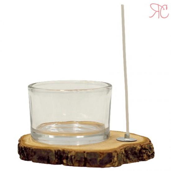 Pahar pentru lumanari cu fitil, 30 ml