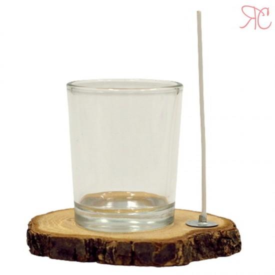 Pahar pentru lumanari cu fitil, 45 ml