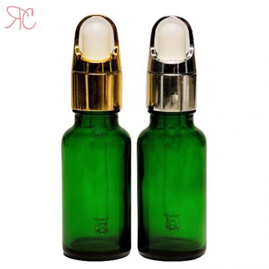 Set sticla verde cu pipeta, 20 ml