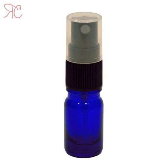 Sticla albastra cu atomizor, 5 ml