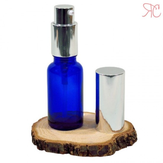 Sticla albastra cu pompa lotiuni Silver, 30 ml