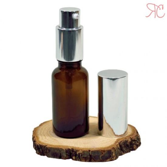 Sticla ambra cu pompa lotiuni Silver, 30 ml