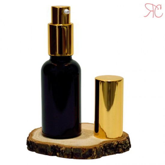 Sticla neagra cu pompa pentru uleiuri, 30 ml