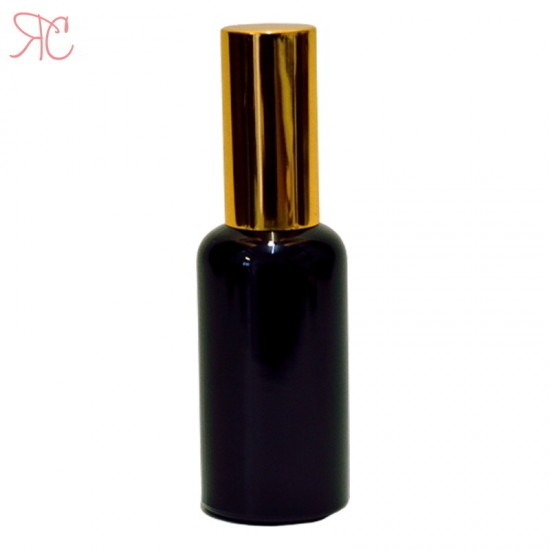 Sticla neagra cu pompa pentru uleiuri, 50 ml