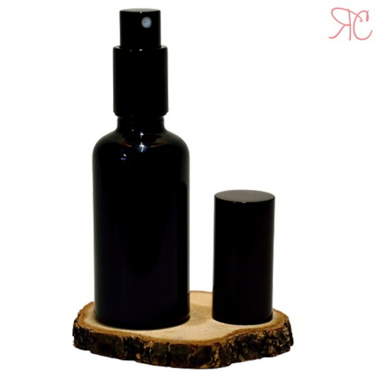 Sticla neagra cu pompa spray, 50 ml