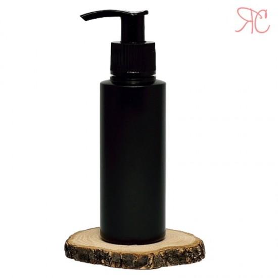 Flacon negru cu pompa dozatoare, 150 ml