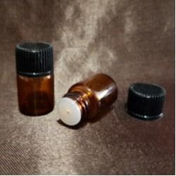 Sticlă ambra cu picurător, 2 ml